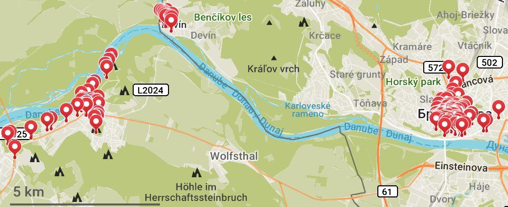 Братислава-Хайнбург-Девін